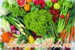Различные овощи и фрукты для здорового питания ребенка
